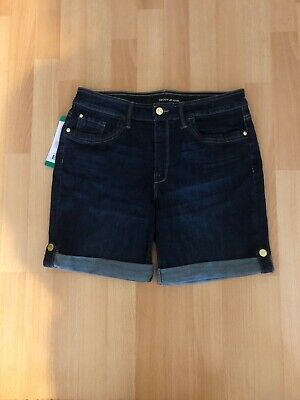 DKNY Ladies Denim Shorts Size Uk 16 / US 12 • 15£