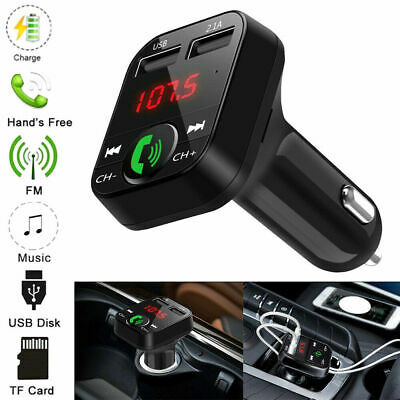 Wireless Bluetooth Car FM Transmitter MP3 Player 2 USB Charger Handsfree Kit • 6.99£