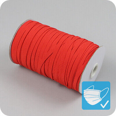$ CDN1.71 • Buy RED Flat Elastic 6mm Premium Grade 1M For Face Coverings Stitching Sewing Cord