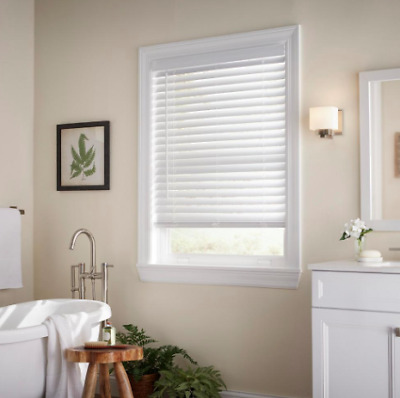 $ CDN32.94 • Buy White Cordless 2 In. Faux Wood Blind - 33 In. W X 36 In. L (Actual Size: 32.5 )