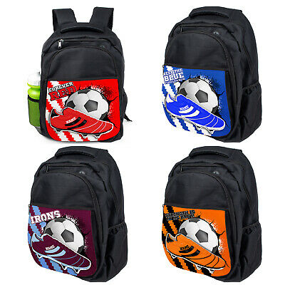 Personalised Football School Bag Boys Backpack Childrens Laptop PE Sports Kit FB • 18.95£
