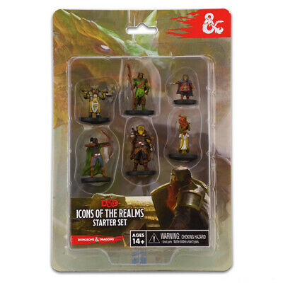 AU37.95 • Buy Dungeons & Dragons Icons Of The Realms Painted Figures Starter Set NEW