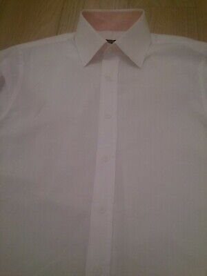 £9.50 • Buy Mens White FRENCH CONNECTION Shirt 15  Collar Double Cuffs