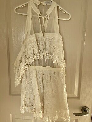 AU50 • Buy Alice McCall Better Be Good White Playsuit, Size 10
