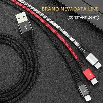 AU5.50 • Buy 1.2M Braided Fast Charger USB Lighting Cable Data For Iphone 11,X,8,7,6s,6, 5
