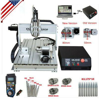 $1999 • Buy 2.2KW 4-Axis CNC Router 6040 Mach3 USB Engraving Cutting Drilling DIY Machine US