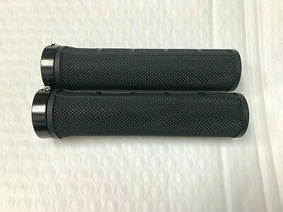 AU5.50 • Buy LOCK ON GRIPS, Alloy Rings, Scooter / Bicycle Grips, MTB / BMX / Fixie Black