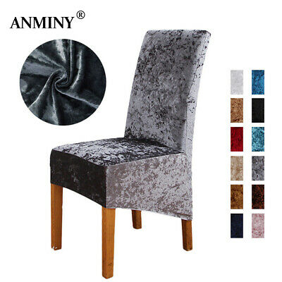 Crushed Velvet Dining Chair Covers Stretchable Protective Slipcover Home Decor • 4.49£