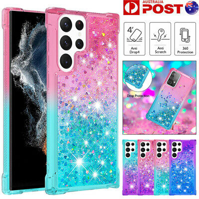 AU12.99 • Buy For Samsung S21/S20 FE Note20 Ultra S10 S9 Plus Case Clear Liquid Glitter Cover