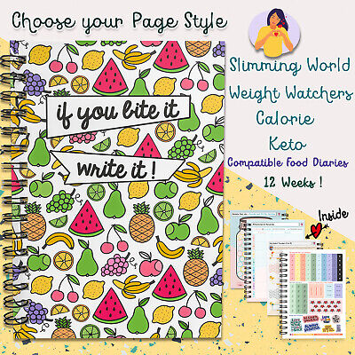 Food Diary A5 Weight Loss Journal Log💚diet Sw/ww/ Cal/keto Friendly💚 Planner • 8.99£