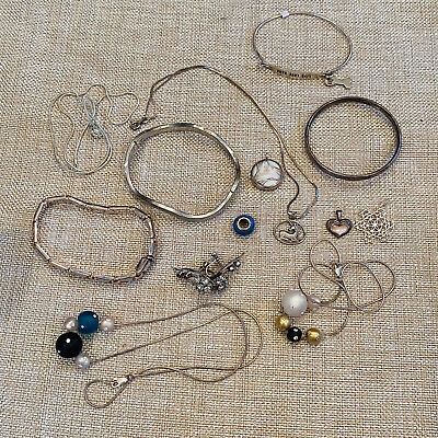 $ CDN91.16 • Buy Sterling Silver 925 Mixed Jewelry Lot 88 Grams