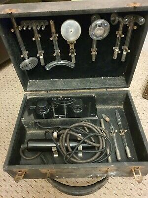 Antique Medical Apparatus Massage Kit - Known Today As A Violet Wand. • 450£