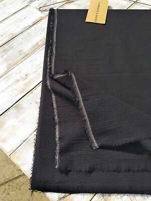 100% Cotton Textured Black Fabric - By Cabbages & Roses • 46£