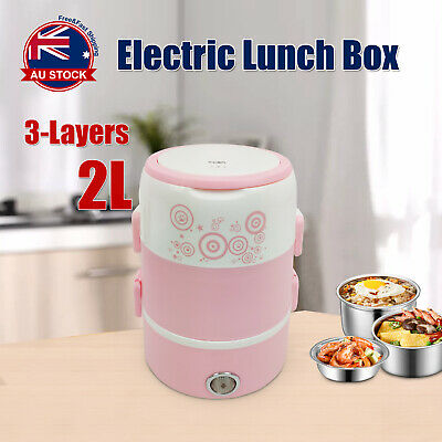 AU30.99 • Buy Portable 2L Electric Lunch Box Rice Cooker Warmer Food Steamer Container O