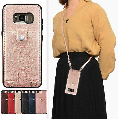 AU7.94 • Buy Crossbody Phone Case Card Holder Wallet Protective Leather Purse With Strap
