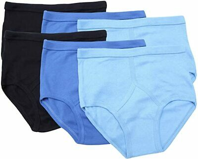 Pack Of 6 Mens 100% Cotton Y Fronts Assorted Colours Underwear Size S M L XL 2XL • 8.99£