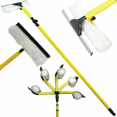 Telescopic Window Cleaner Extendable Strong Outdoor 3.5m Squeegee Cleaning Kitt • 15.99£