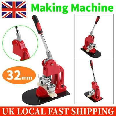 £83.87 • Buy 32MM Badge Punch Press Pin Maker Machine With 1000 Button Parts + Circle Cutter