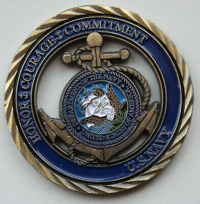 £12 • Buy US Navy Challenge Coin With Part Voided Center.