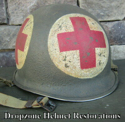 $ CDN172.90 • Buy WWII M-1 Helmet 4-Panel US Medic