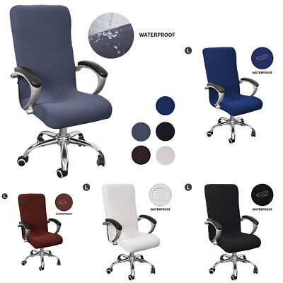 AU17.70 • Buy 1 X Stretch Computer Office Chair Cover Removable Rotating Seat Covers Slipcover