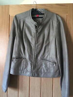 Miss Captain Faux Leather Jacket Size 12 (40) Fully Lined • 15£
