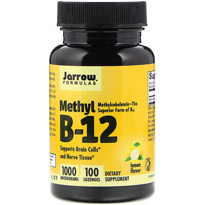 Jarrow Formulas, Methyl B-12, Lemon Flavor, 1000 Mcg, 100 Lozenges • 16.31£