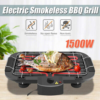 £26.82 • Buy Indoor Smokeless BBQ Portable Grill Barbecue Non Stick Electric Table Top Grill