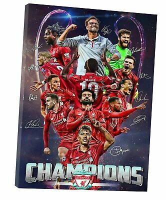 £10.49 • Buy  Liverpool FC Champions Picture Print On Framed Canvas Wall Art Home Decoration