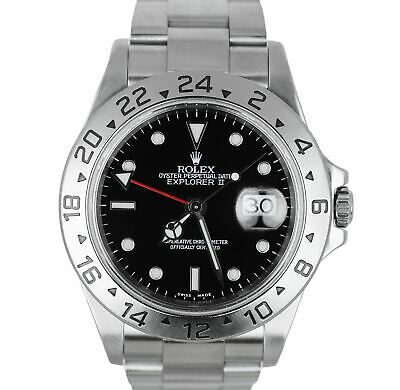 $ CDN8049.54 • Buy MINT 2000 Rolex Explorer II 16570 Stainless 40mm GMT Automatic Black Dial SEL