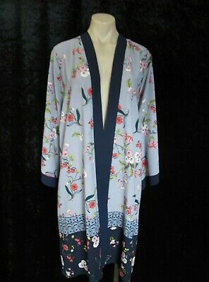 AU5 • Buy Size 26 AUTOGRAPH Blue Grey Red Pink Black FLOWING KIMONO-style TOP JACKET