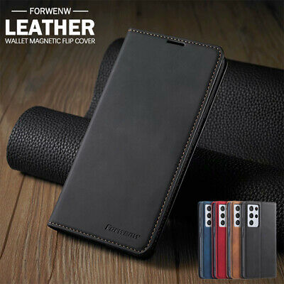 AU13.99 • Buy For Samsung S21 / S20 FE Ultra S8 S9 S10 E Plus Leather Flip Wallet Case Cover
