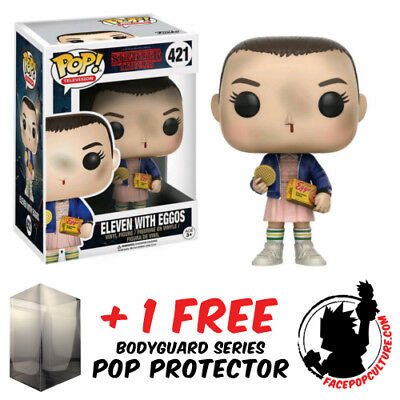 AU20.95 • Buy Funko Pop Stranger Things Eleven With Eggos Vinyl Figure  + Free Pop Protector