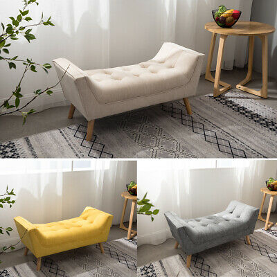 Linden/Velvet Bedroom Chaise Longue Window Seat Bed End Sofa Bench Ottoman Chair • 115.14£