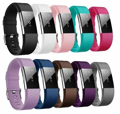 $ CDN6.84 • Buy For Fitbit Charge 2 Strap Replacement Metal Buckle Wristband Small Or Large