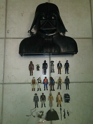 $ CDN13.87 • Buy Vintage Star Wars Action Figure Lot Of 17 Weapons Accessories Darth Vader Case