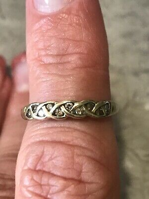AU200 • Buy 9CT YELLOW GOLD DIAMOND DRESS RING BAND   - Beautiful And Unique Design
