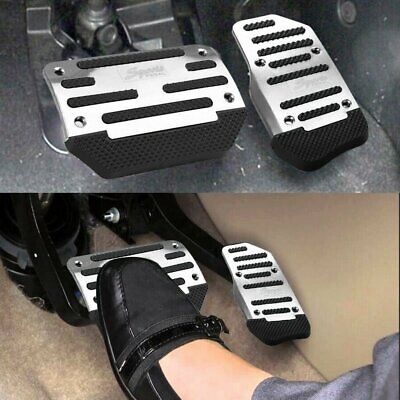 $11.99 • Buy Silver Non Slip Automatic Gas Brake Foot Pedal Pad Cover Car Accessories Kit Set
