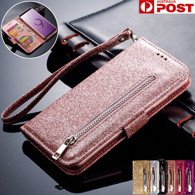 AU14.99 • Buy For Samsung Note20 S20 FE Ultra S10 Plus S9 S8 Case Leather Wallet Glitter Cover