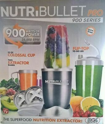 AU89.99 • Buy Nutribullet Pro 900w Vegetable Juicer Mixer Extractor Blender 14pcs Set