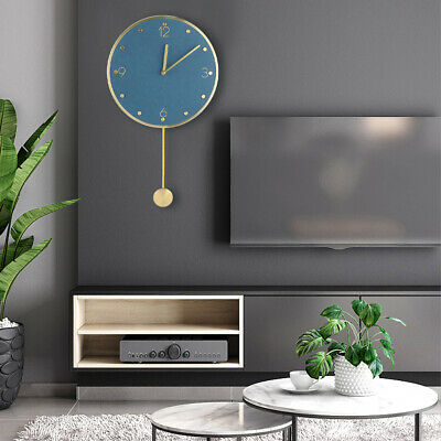 £28.83 • Buy Simple Modern Style Round Wall Swing Clock With Pendulum Home Office Decoration