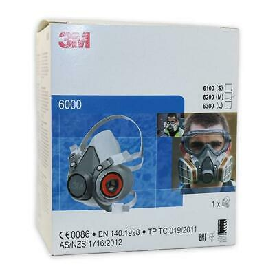 3M 6000 Series 6200 Reusable Half Face Mask With 2 X 6091 A1P3 R Filters • 32.95£