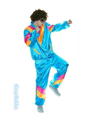 AU11.20 • Buy N3 Mens 80s 90s Sweat Tracksuit Costume Shell Suit Retro Outfit