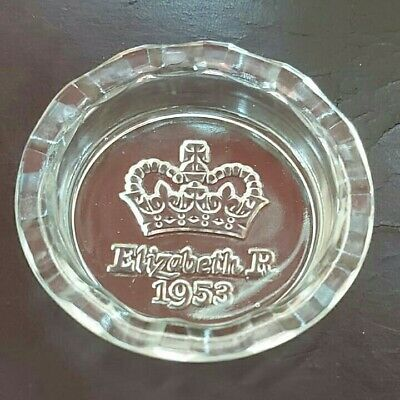 £2.25 • Buy Elizabeth R 1953 Glass Pin Tray/Ashtray Vintage Collectable