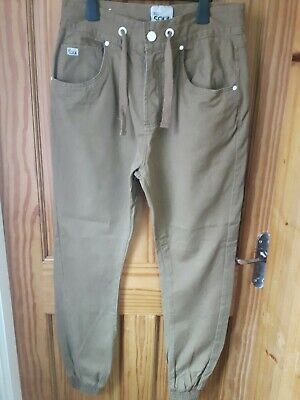 Men's 55 Soul Chinos Trousers Cuff Bottom Tan Size Medium WAS £30 NOW £20 • 10£