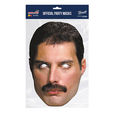 Freddie Mercury Queen CELEBRITY PARTY MASKS MASK FUNNY STAG CARDBOARD FACE  • 2.99£