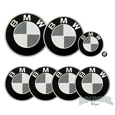 £7.99 • Buy For BMW Badge Gloss Carbon Fibre White & Dark Grey All Models Decals Stickers