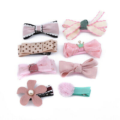 $ CDN4.77 • Buy 8Pcs/Set Bow Girls Hair Clips Hairpins Hair Accessories For Kids Baby IT