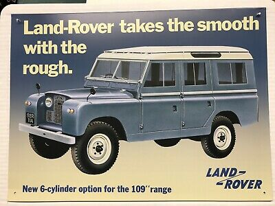 16 X 12  Land Rover 4x4 Off Road 6 Cyl Car Tin Sign Plaque, Man Cave Wall Art. • 12.49£