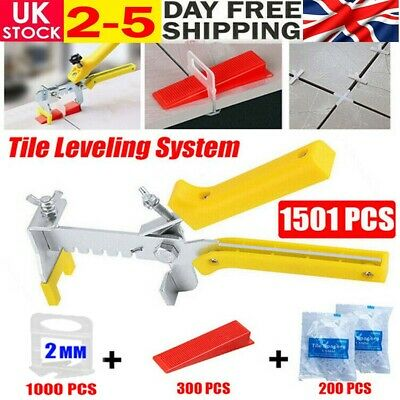 1501pc Tile Leveling Spacer System Tool Clips&Wedges Flooring Lippage Plier Kit • 19.99£